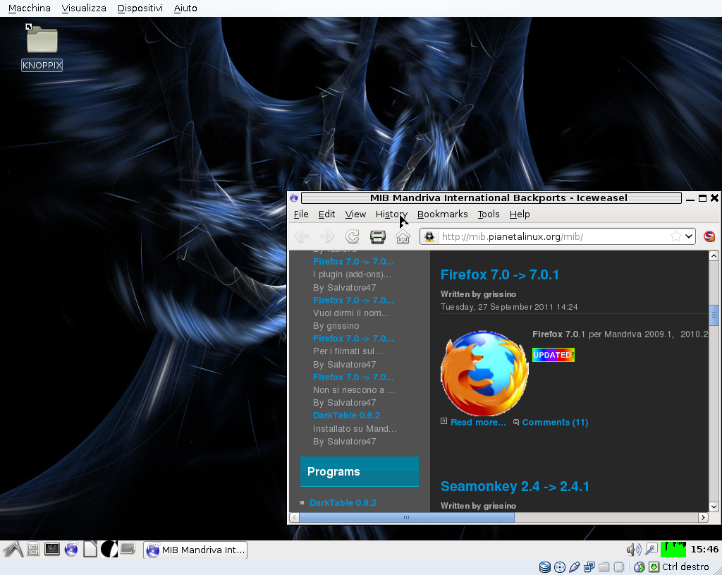 Knoppix-3.7.1 on VM VirtualBox-4.1.4
