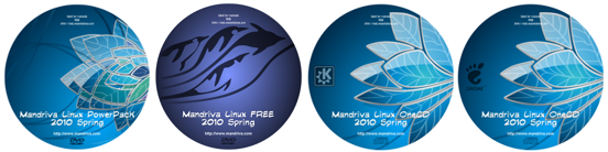MIB labels Mandriva 2010 Spring Free, ONE & PowerPack